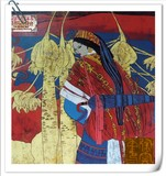 The Shepherd 牧羊女之二< Woodblock Painting>